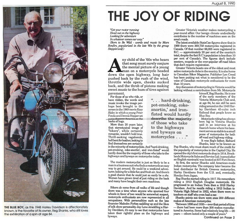 Joy of riding